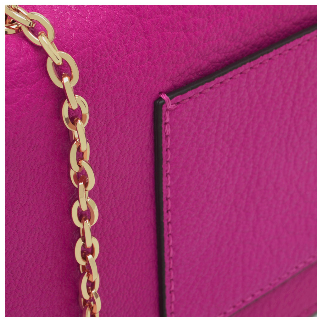 aaded620da Lyst - Mulberry Bow Glossy Goat Leather Clutch Wallet in Pink