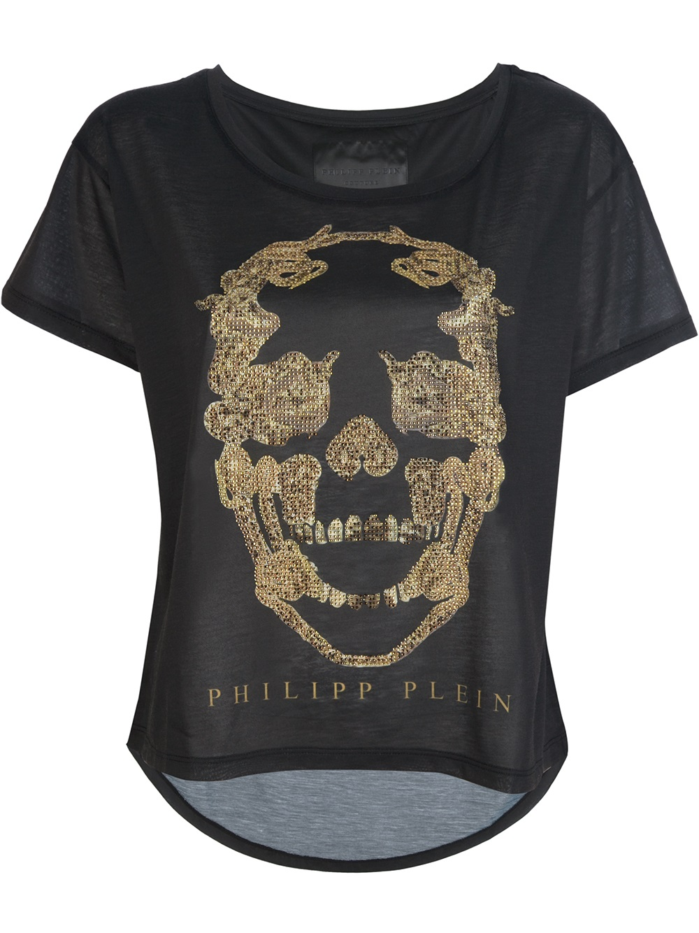 philipp plein t shirt hidden skull lyst. Black Bedroom Furniture Sets. Home Design Ideas