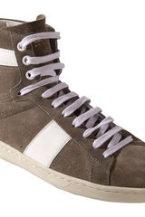 Saint Laurent Sl02h High Top Sneaker - Lyst