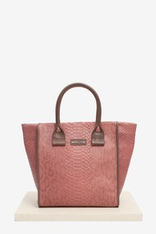 See By Chloé April Zipped Embossed Python Tote - Lyst