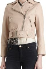 Acne Cropped Motorcycle Jacket - Lyst
