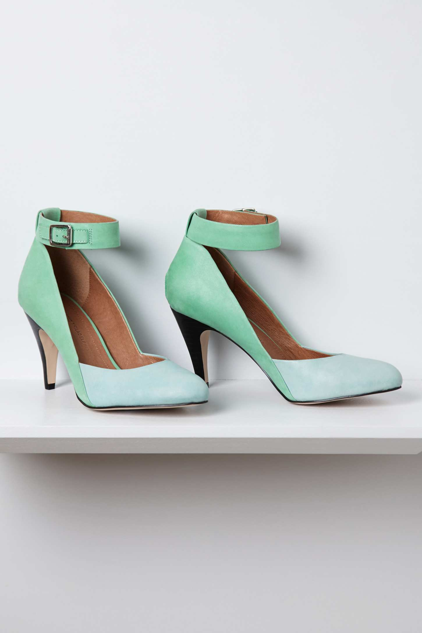 anthropologie lola heels in green mint lyst
