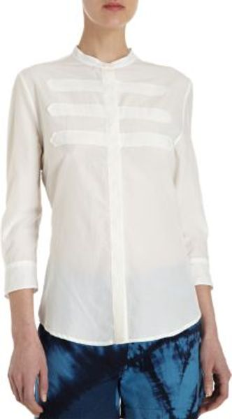 Band Of Outsiders Appliqué Button Front Tunic - Lyst