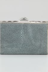 BCBGMAXAZRIA Lizardstamped Pyramid Box Clutch - Lyst