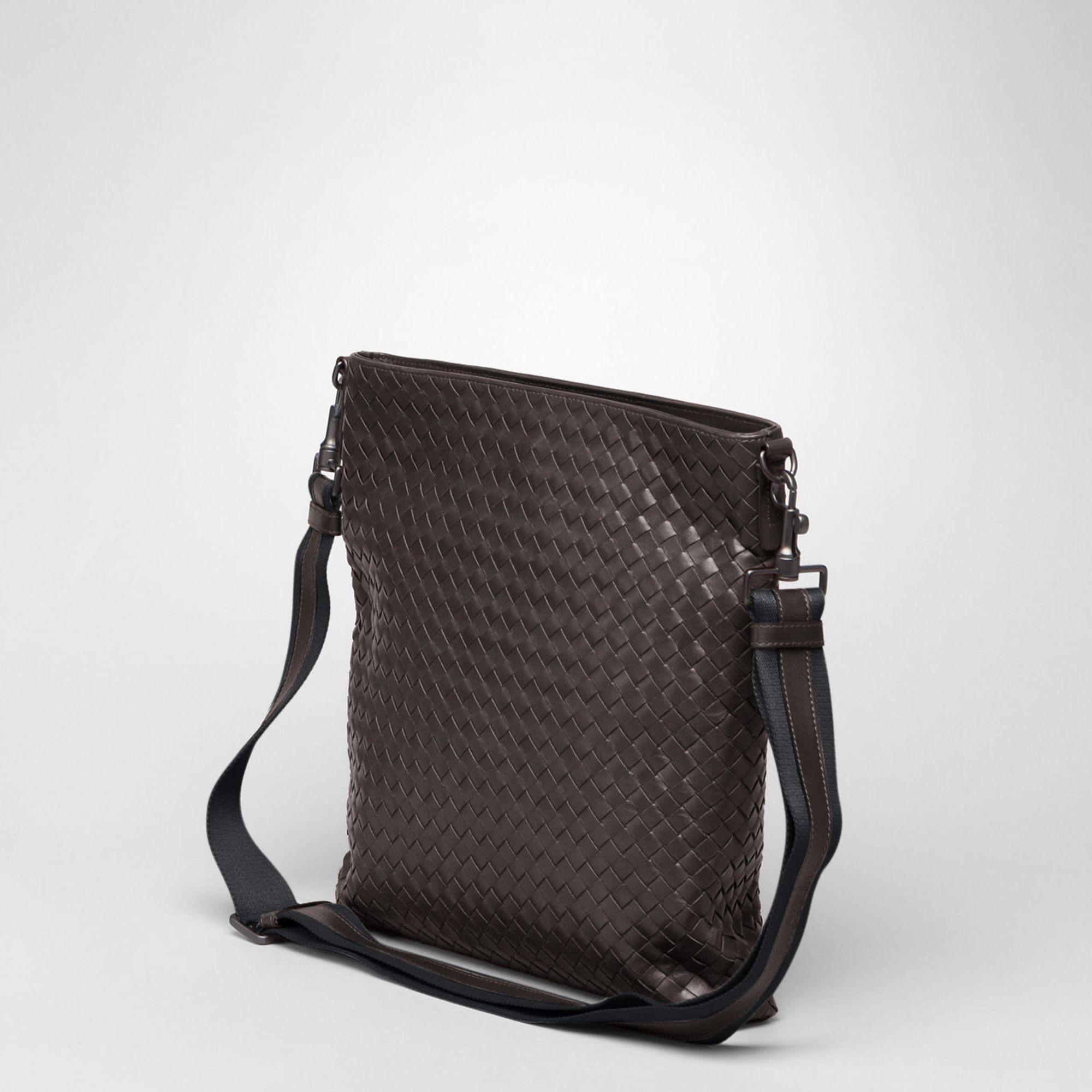 Bottega Veneta Ebano Intrecciato Vn Cross Body Bag in Brown for Men ... ff0cdadd73144