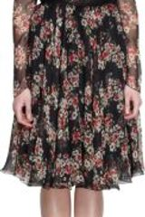 Dolce & Gabbana Lace Trimmed Floral Print Long Sleeve Dress - Lyst