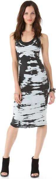 Enza Costa Doubled Racer Dress - Lyst
