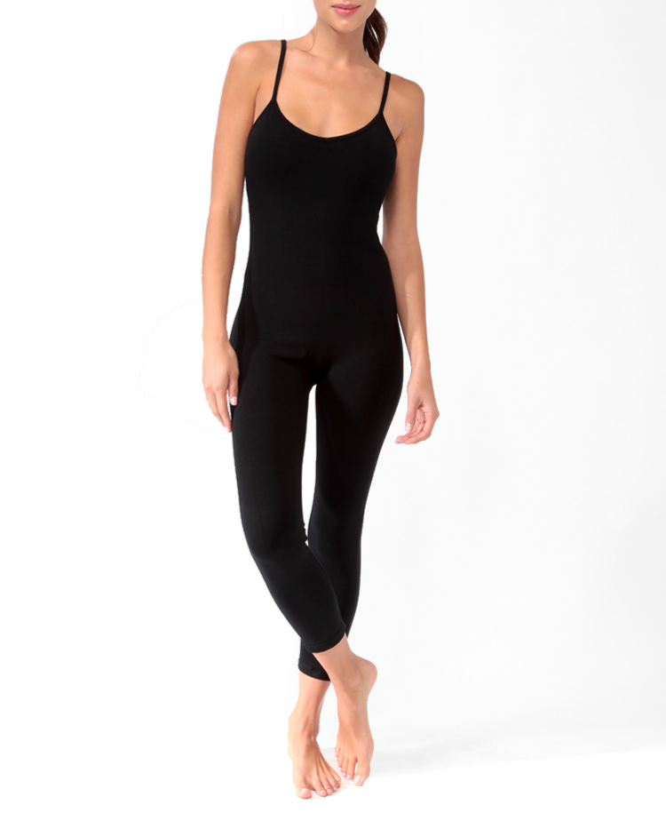 Forever 21 Capri Bodysuit In Black