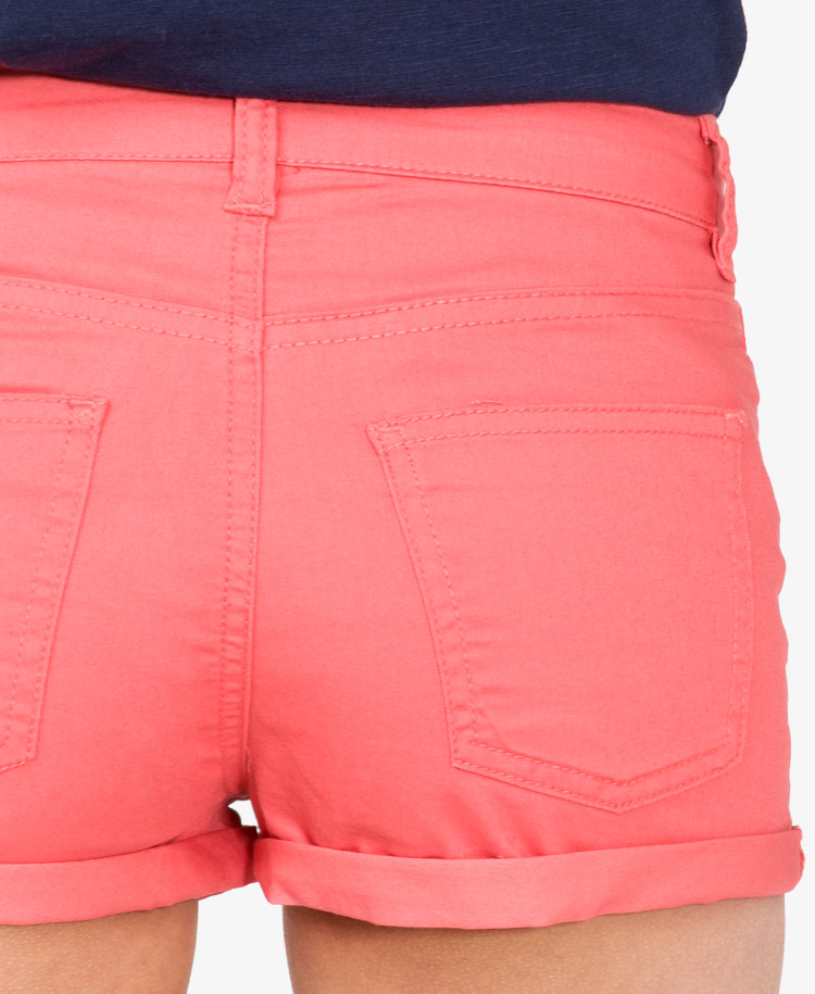 Forever 21 Colored Denim Shorts in Pink | Lyst