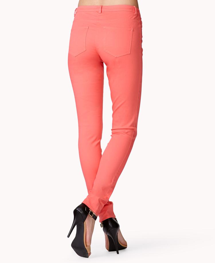 Orange skinny jeans forever 21