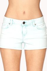 Forever 21 Life in Progress Acid Wash Colored Denim Shorts - Lyst