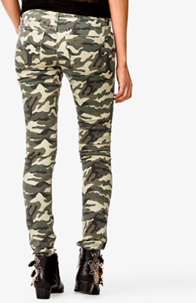 Simple Lyst - Forever 21 Camo Skinny Jeans In Green