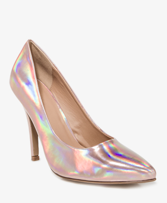 a8e79dd9de1 Forever 21 Pointed Hologram Pumps in Metallic - Lyst