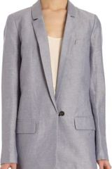 Giada Forte Chambray Over Sized Blazer - Lyst