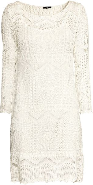 H&M Knitted Dress - Lyst