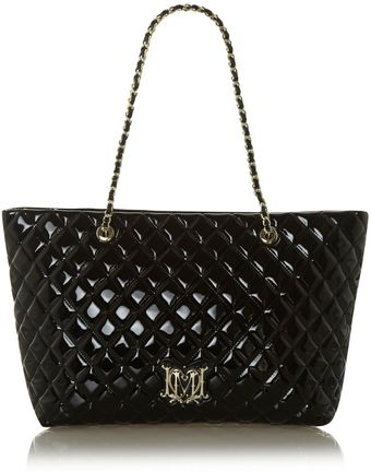 Love Moschino Patent Quilted Tote Bag - Lyst