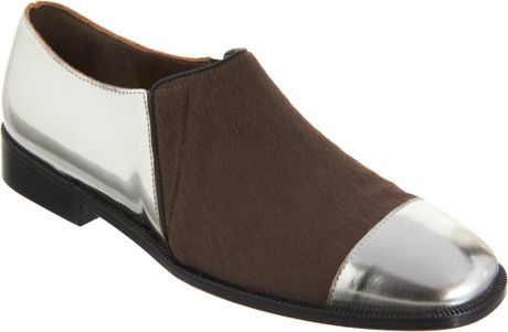 Marni Ponyhair Vamp Slipon in Silver (gold) - Lyst