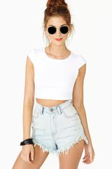 Nasty Gal Sweet Persuasion Crop Tee White - Lyst