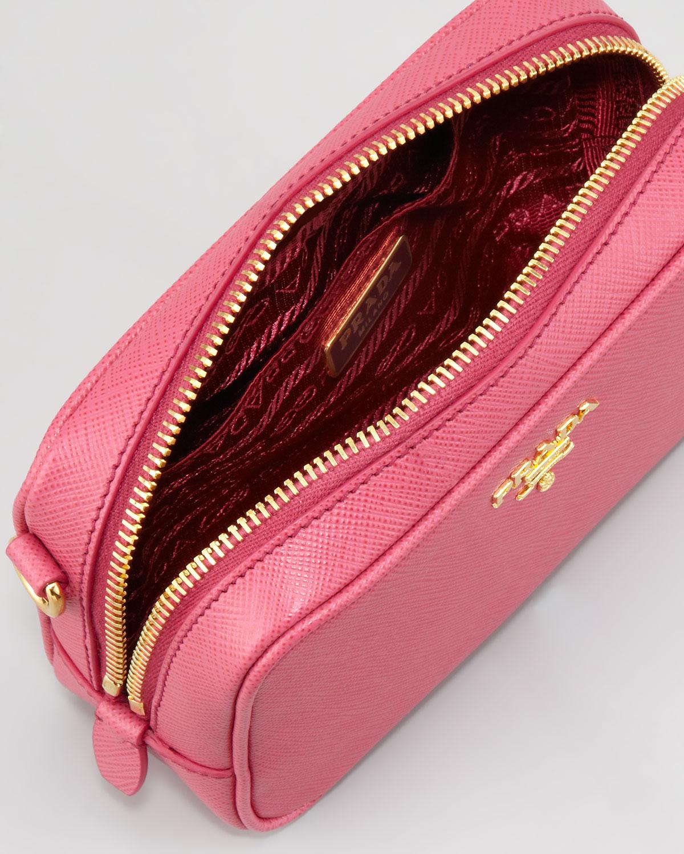 1cc0a664f5d06 prada purse pictures - Prada Saffiano Mini Zip Crossbody Bag in Pink