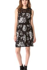 RED Valentino Flower Dress - Lyst