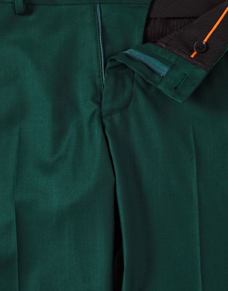 The North Face Selected Skinny Fit Suit Pants In Green For Men Darkgreen Lyst