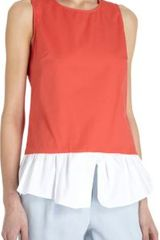Thakoon Addition Twotone Peplum Top - Lyst