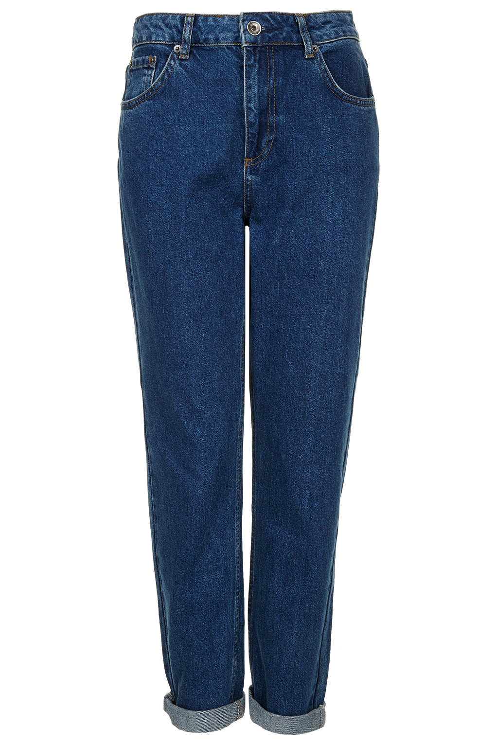 Topshop moto raw hem indigo jamie jeans in blue lyst for Womens denim shirts topshop