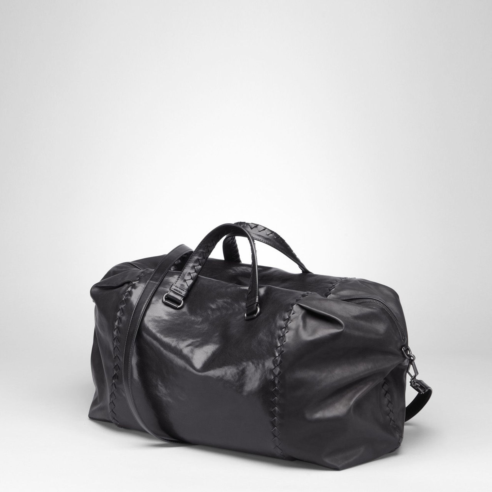 f1e6257702 Lyst - Bottega Veneta Nero Waxed Vitello Laque Duffel in Black for Men