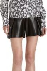 Derek Lam Feather Print Short Sleeve Blouse - Lyst
