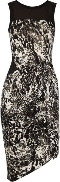 DKNY Animalprint Stretchjersey Dress - Lyst