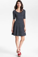 Eliza J Stripe Fit Flare Dress - Lyst