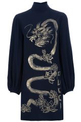 Emilio Pucci Silk Dragon Dress - Lyst
