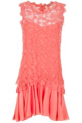 Ermanno Scervino Lace Sleeveless Dress - Lyst