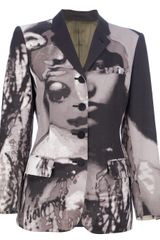 Jean Paul Gaultier Abstract Print Blazer - Lyst