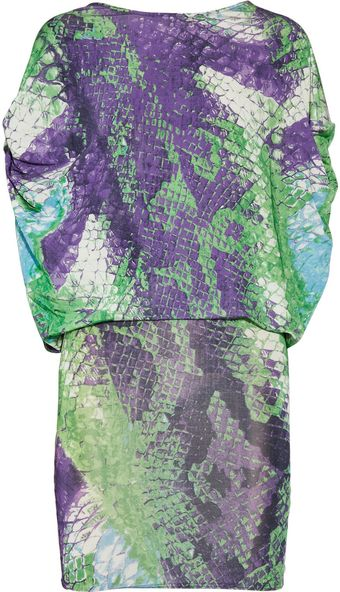 La Perla Pythonprint Stretchjersey Dress - Lyst