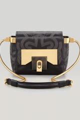 Lanvin For Me Small Embroidered Crossbody Bag - Lyst