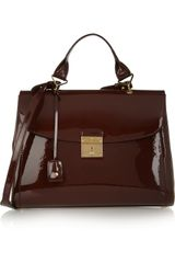 Marc Jacobs Patentleather Tote - Lyst