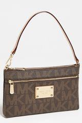 Michael by Michael Kors Large Zip Wristlet - Lyst