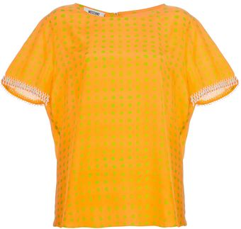 Moschino Cheap & Chic Boxy Polka Dot Top - Lyst
