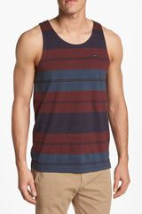 RVCA Tracker Stripe Tank Top - Lyst