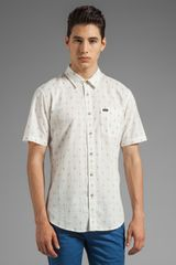 RVCA Sumac Short Sleeve Shirt in White - Lyst