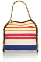 Stella McCartney The Falabella Striped Cotton Tote - Lyst