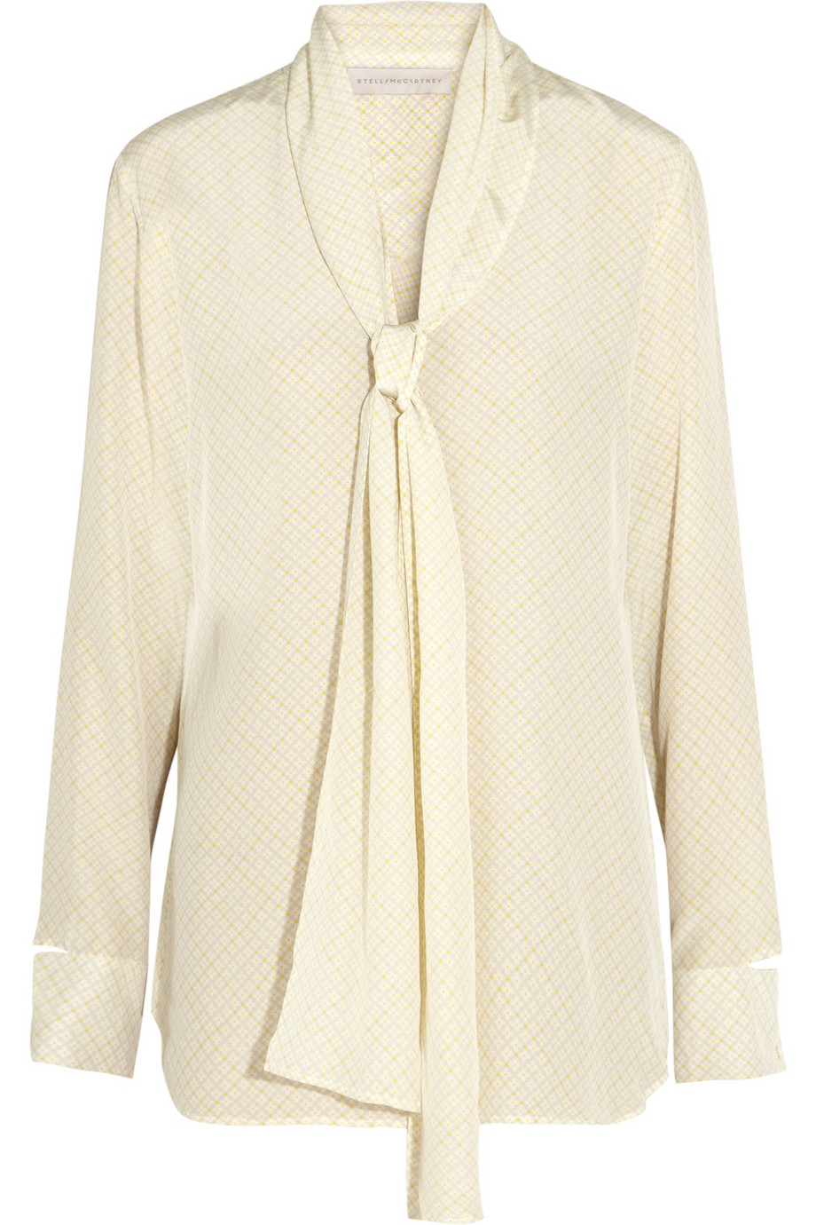 5739a799d3a323 Lyst - Stella McCartney Printed Silk Pussybow Blouse in White
