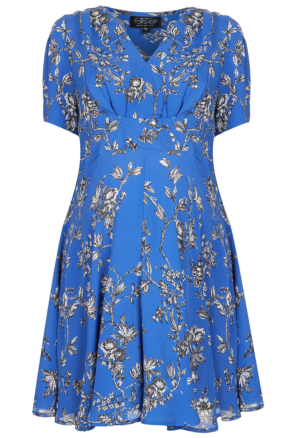 Lyst topshop maternity floral tea dress in blue gallery womens tea dresses ombrellifo Image collections
