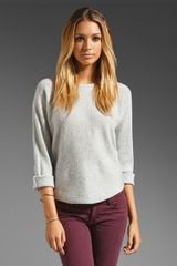 Vince Cashmere Boatneck Sweater in Gray - Lyst