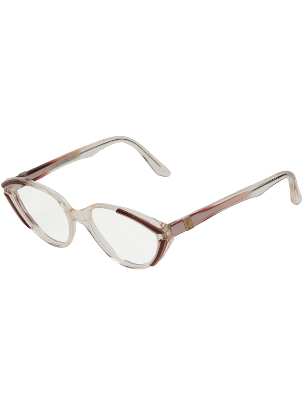 Yves Saint Laurent Vintage Oval Frame Glasses in ...