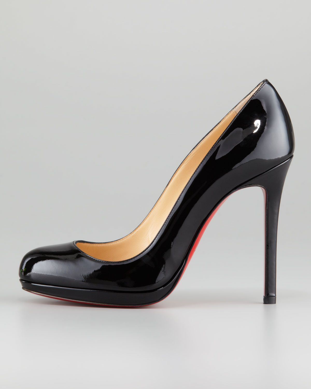 87cd74dce281 Lyst - Christian Louboutin Neofilo Patent Roundtoe Red Sole Pump in ...