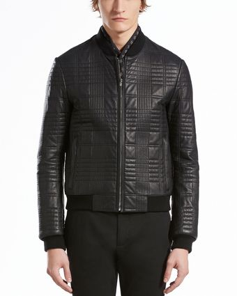 Gucci Quilted Leather Bomber Jacket - Lyst