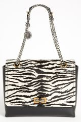 Lanvin Happy Zebra Calf Hair Flap Shoulder Bag - Lyst