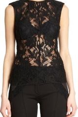 Nina Ricci Floral Lace Sleeveless Top - Lyst